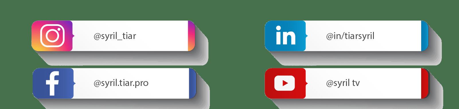Réseaux sociaux de Syril Tiar
