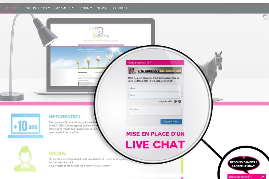 Mettre un live chat sur un site