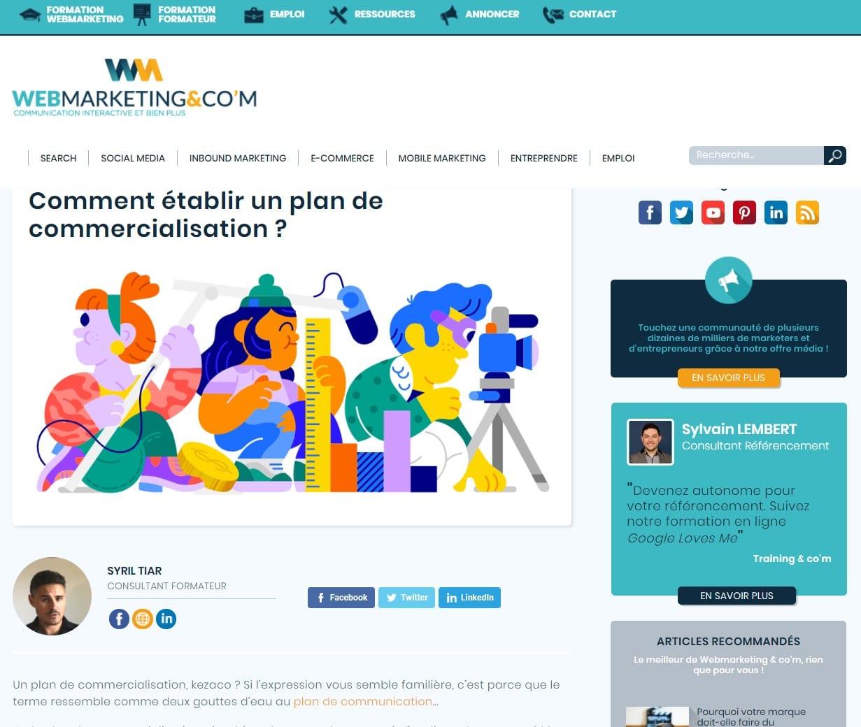 Syril Tiar écrivant pour Webmarketingandcom