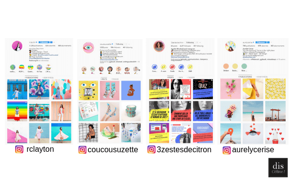 Styles De Feed Instagram Colorblock Disceline