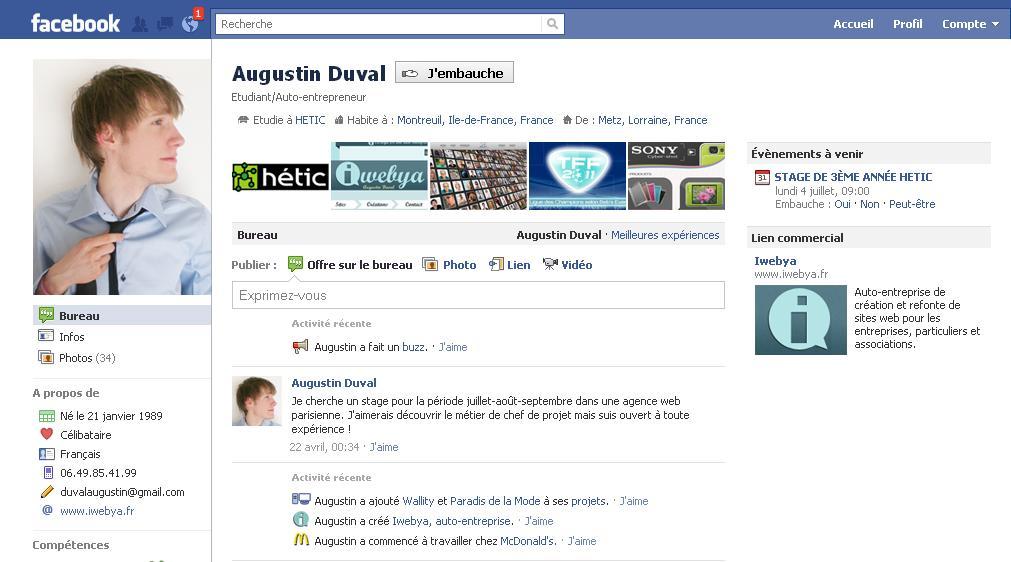Augustin Duval Et Son Cv Facebook